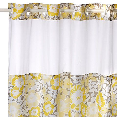 Fan Floral Hookless Shower Curtain With Images Floral Shower