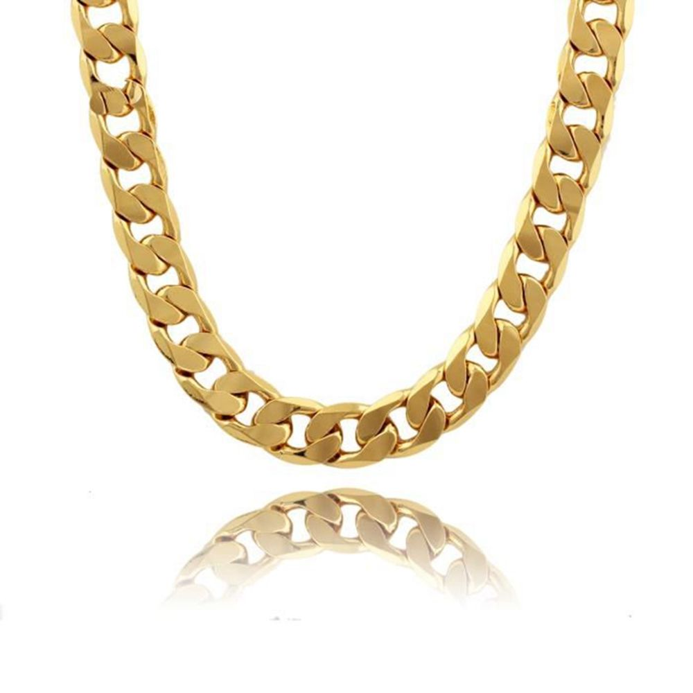 Free shipping buy best chunky mens chain necklace yellow gold