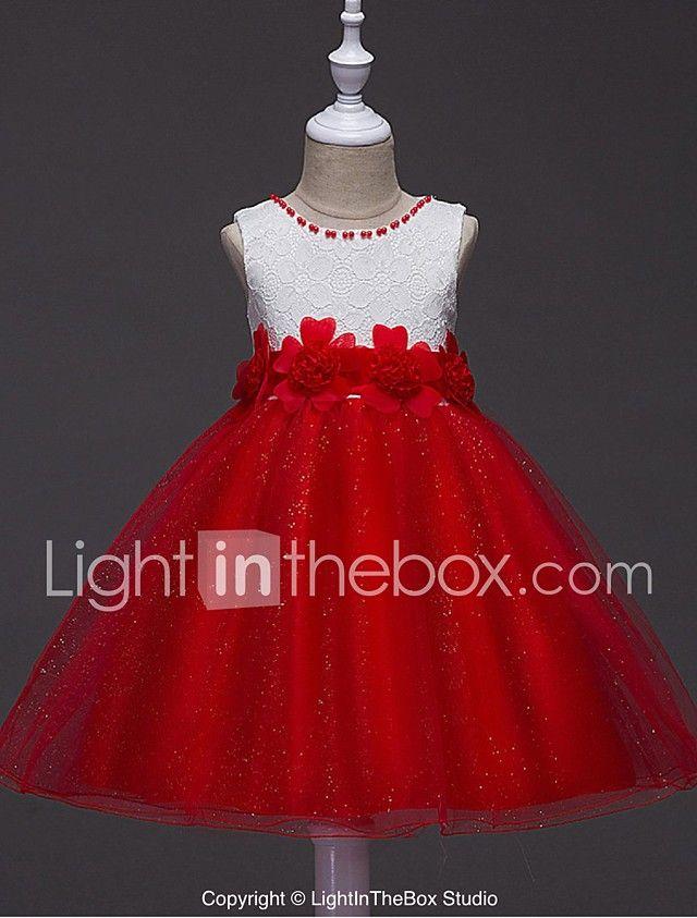 4b41698c9 vestido de bola corto   mini vestido de niña de flor - cuello de joya sin  mangas de organza con rebordear por ydn 2017 -  44.99