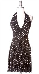 Marilyn Halter Dress Black Polka Dots- Wish I could find this in the color I want...