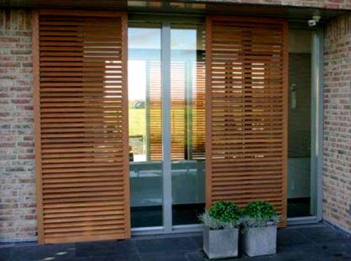 Resultado de imagen para persianas corredizas parasoles pinterest - Persianas bambu exterior ...