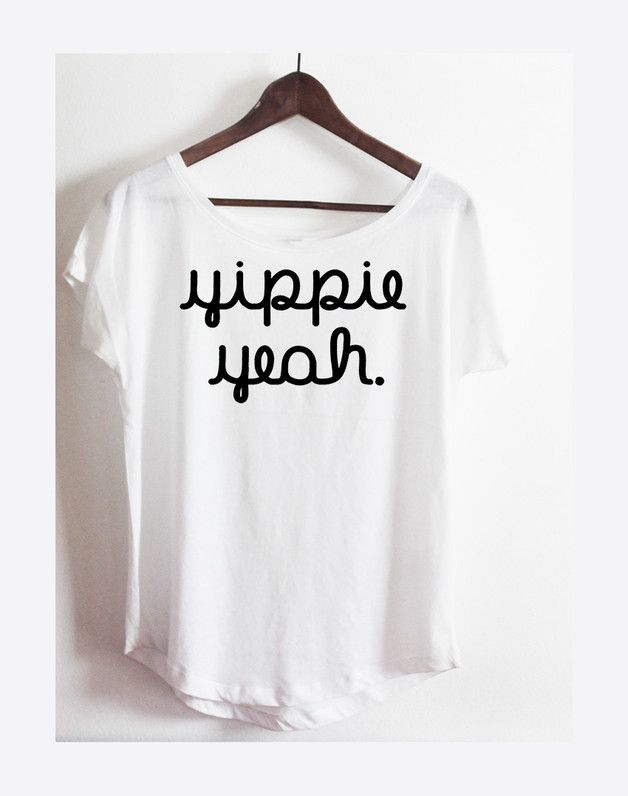 Pretty oversize shirt in white with a funny print, T-shirt with a hipster motif / oversized shirt with statement print made by KitschUndKrempel via Da ...