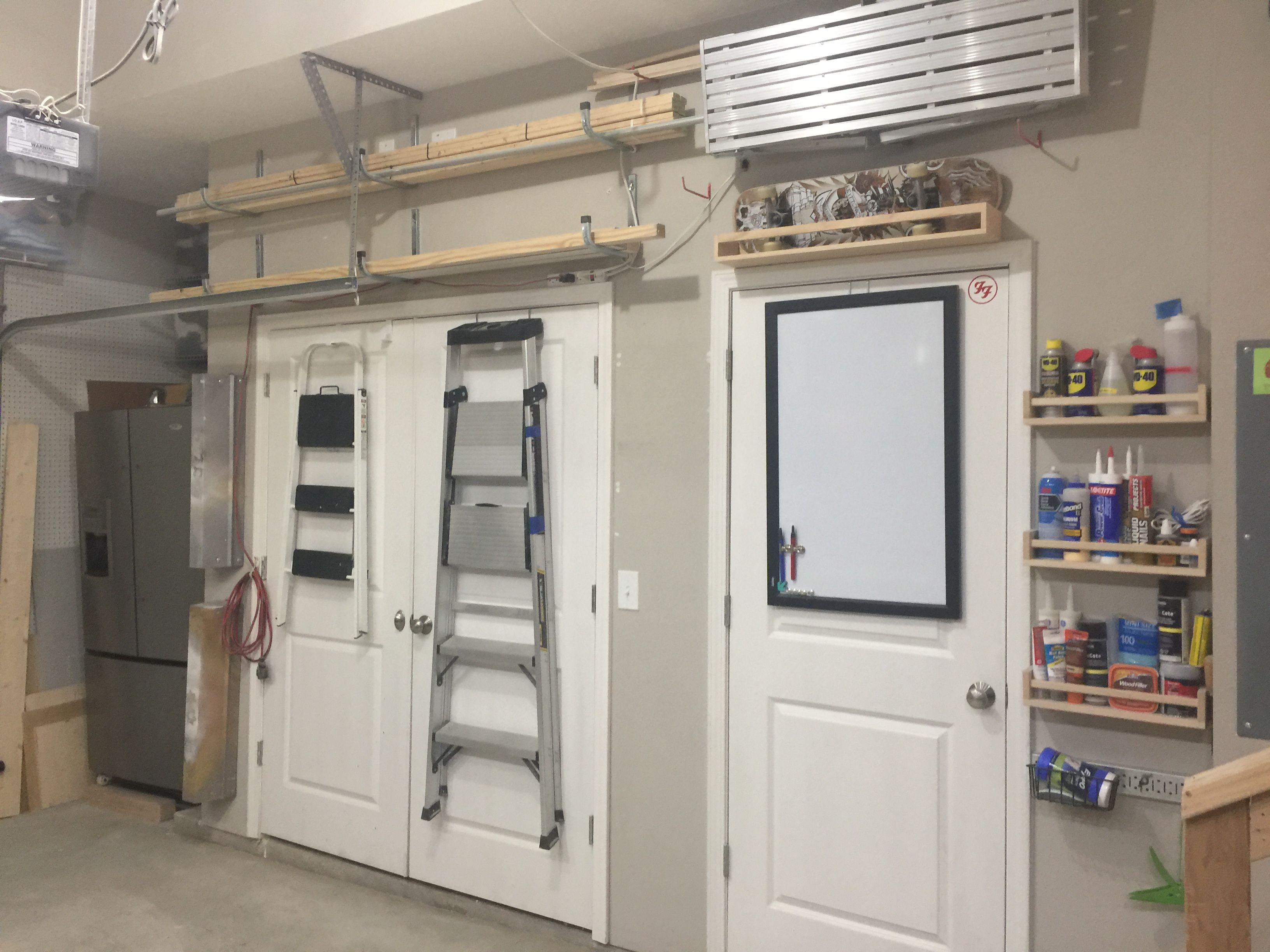 Garage Organization For Small Spaces Vertical Storage Pegboard Shelving Drawers