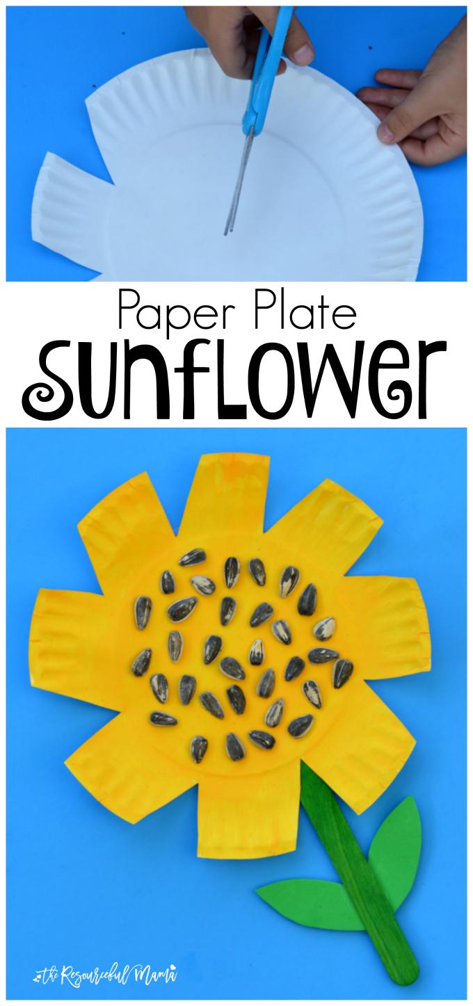 Paper Plate Sunflower Craft Art Pinterest Manualidades De