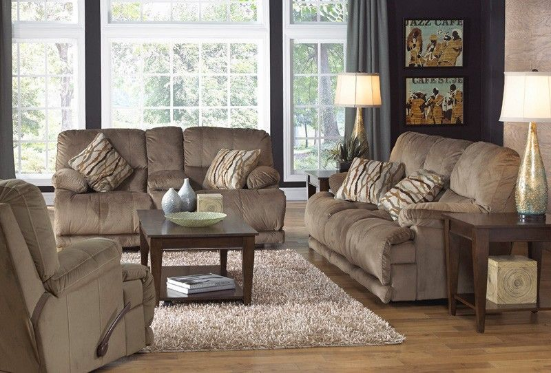 Catnapper - Riley 2 Piece Reclining Sofa Set in Musk ... on Riley 3 Piece Sectional Charleston id=24001