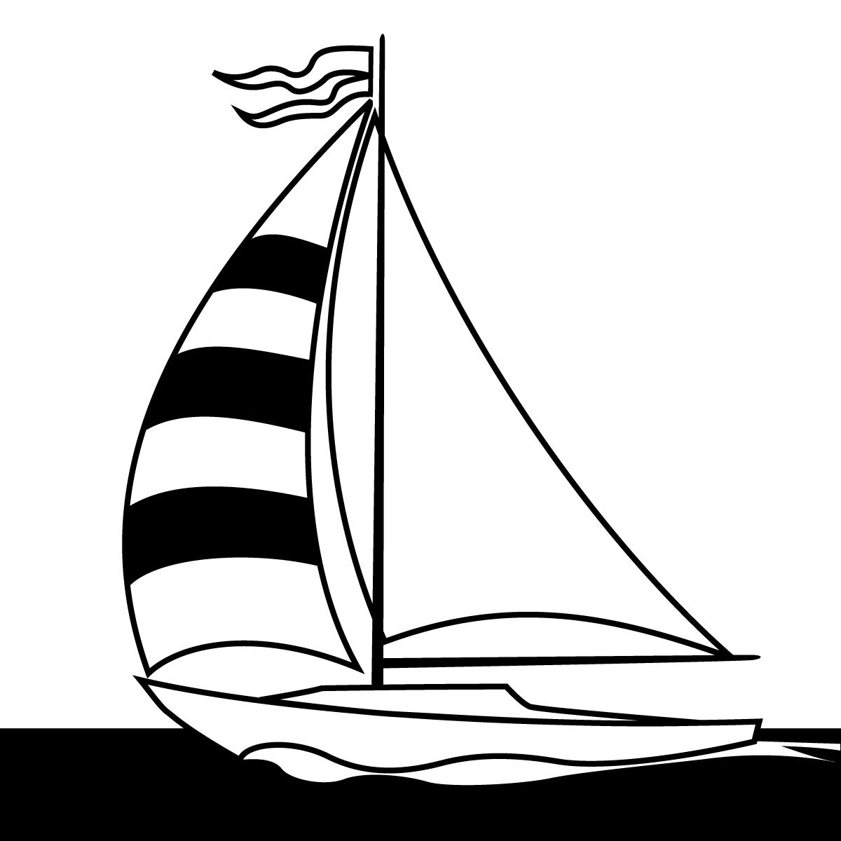 Contemporary Ship Clipart