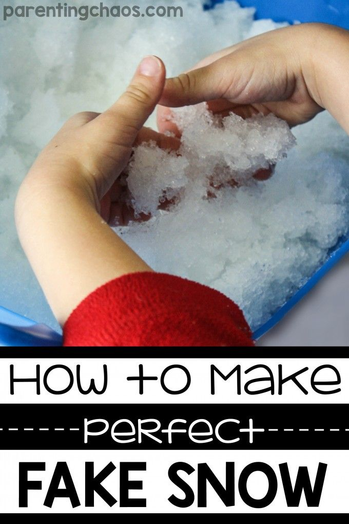 How To Make Perfect Fake Snow How To Make Snow Cool Science Experiments Snow Recipe