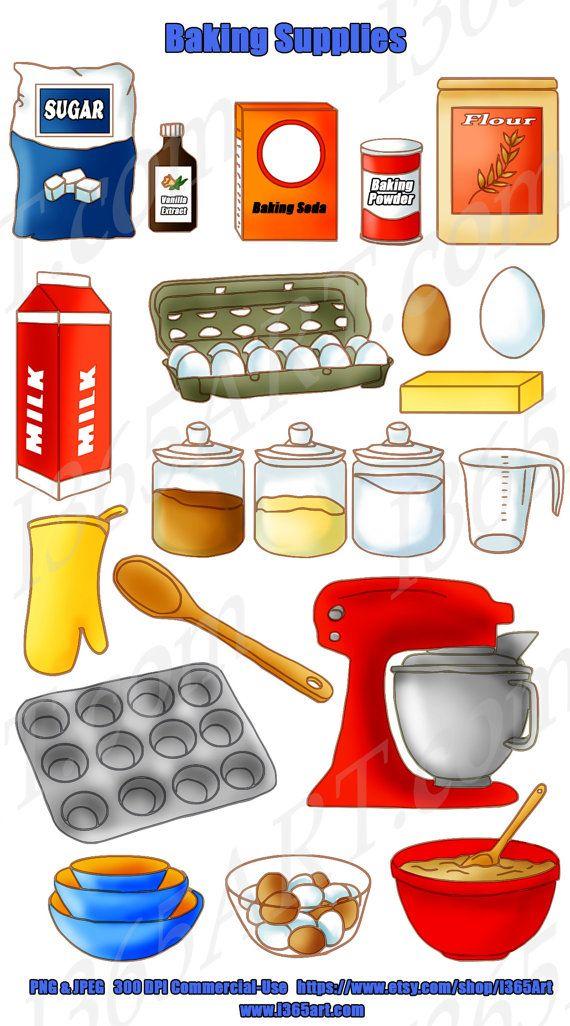 Baking clipart set, kitchen clipart, appliances, cooking