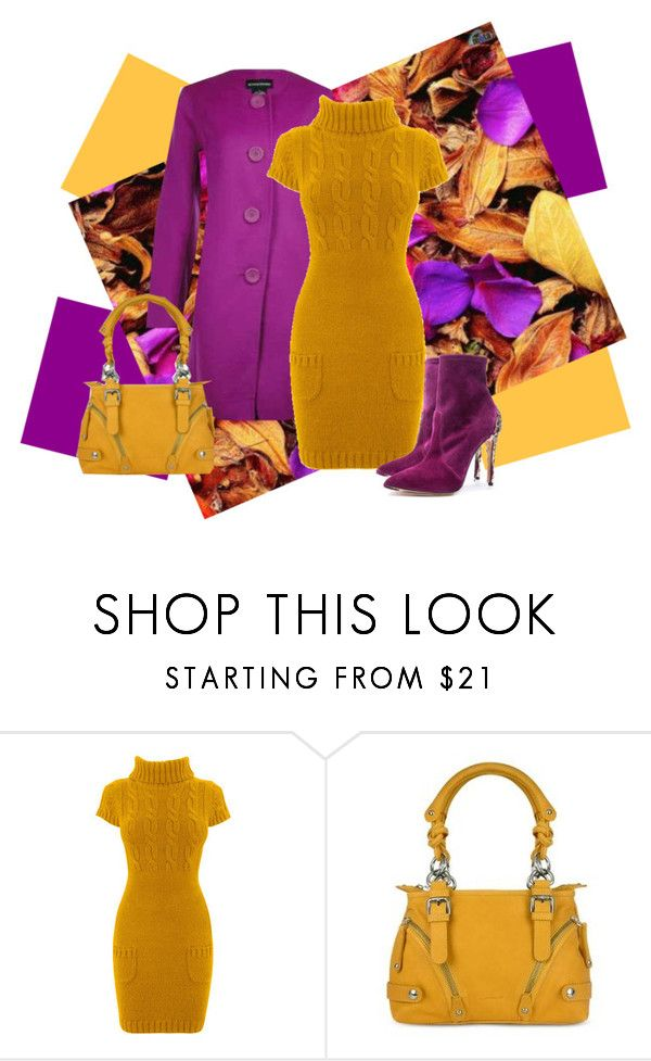 """""""Plum Mustard"""" by sjlew ❤ liked on Polyvore featuring Burberry and Forzieri"""