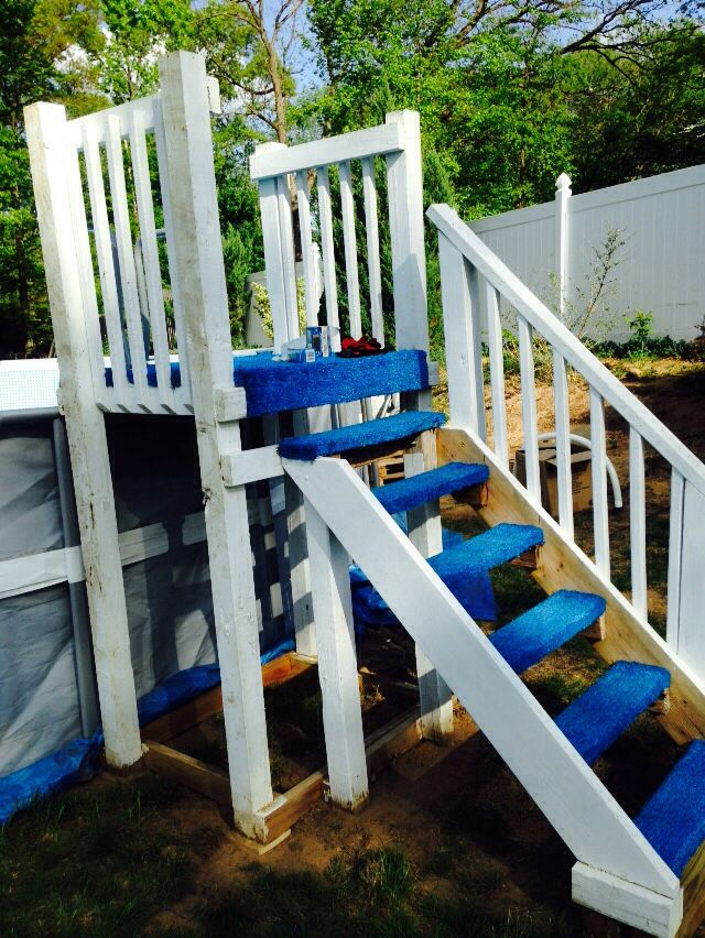Intex Diy Pool Steps With Images Pool Landscaping Pool Steps