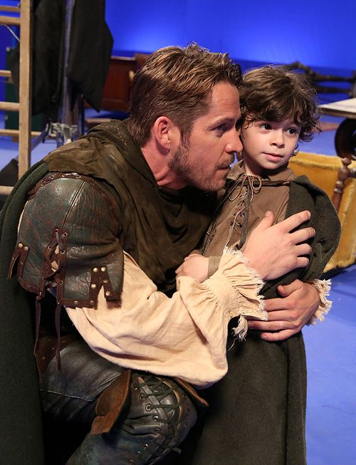 Robin Hood and his son Rowland in quite a common fairy...too precious!!!
