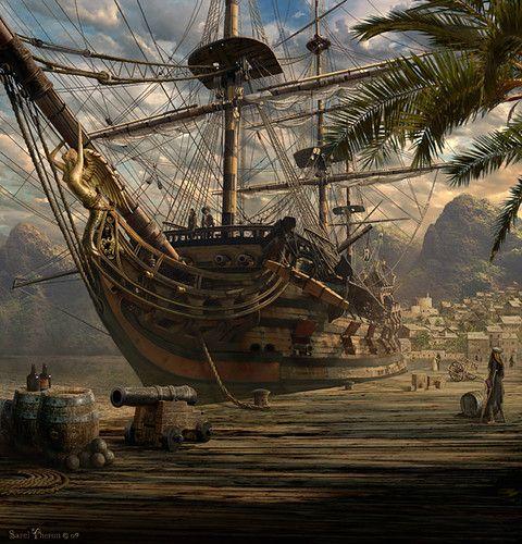 port royal - sarel theron concept art............. ................................♥...Nims...♥