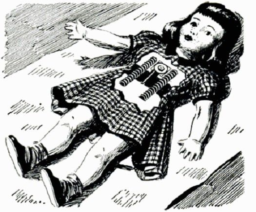 """1952 Holiday Gift Gadget Guide - The Most Realistic Doll Ever: One That Grows!  Get your little one this doll with a built-in clockwork motor that slowly pays out a cable, little by little, """"giving the effect of growth."""" Your son or daughter will probably be delighted to see their companion growing just like they do."""