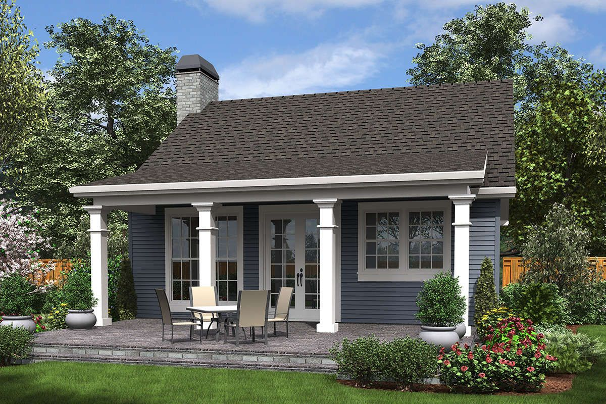 House Plan 2559 00688 Small Plan 960 Square Feet 2 Bedrooms 1 Bathroom Backyard House Backyard Guest Houses Small Cottage House Plans