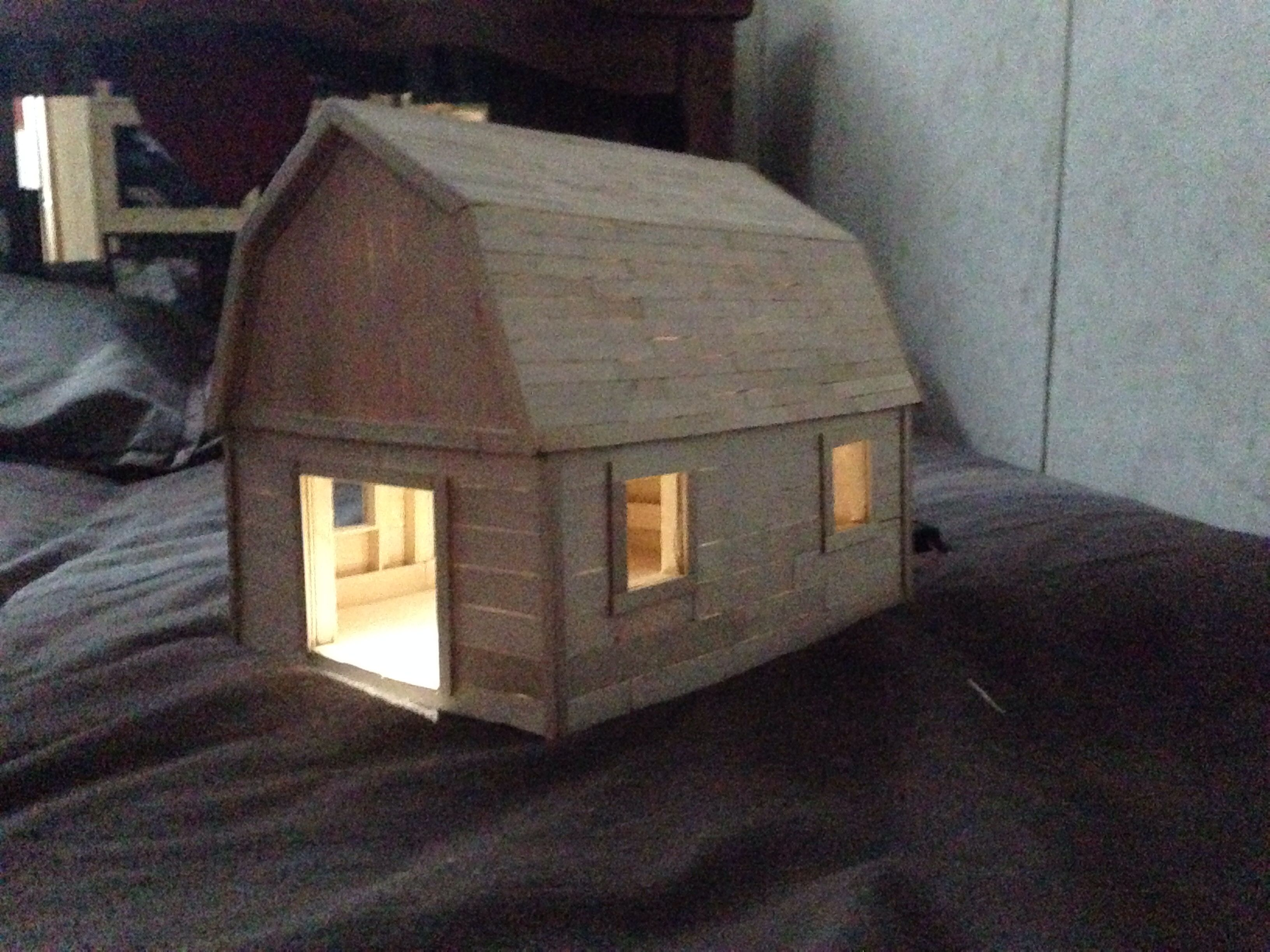 Popsicle stick church craft - Popsicle Stick Barn