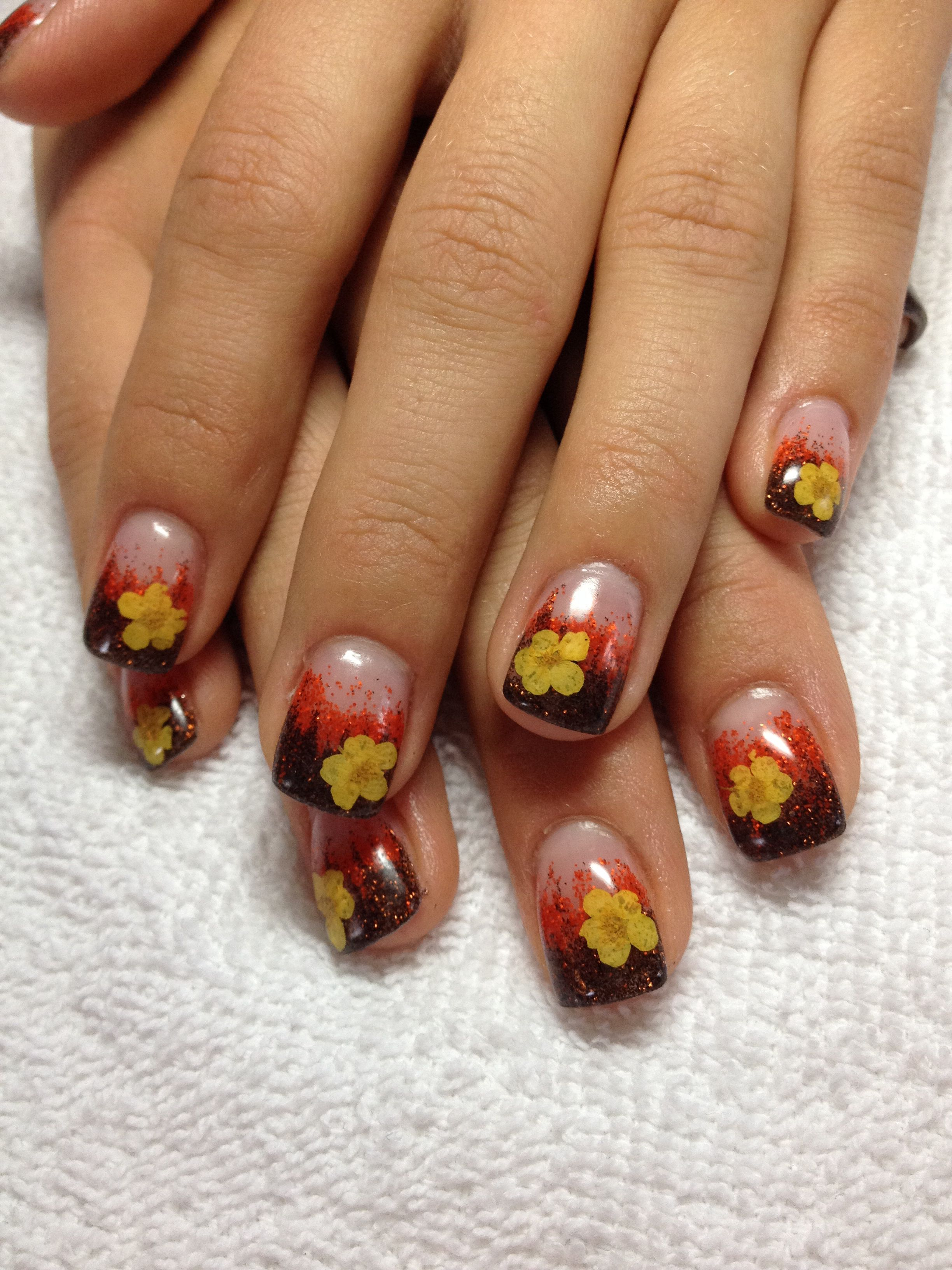 Beautiful fall themed nails | Nails I\'ve done | Pinterest | Makeup