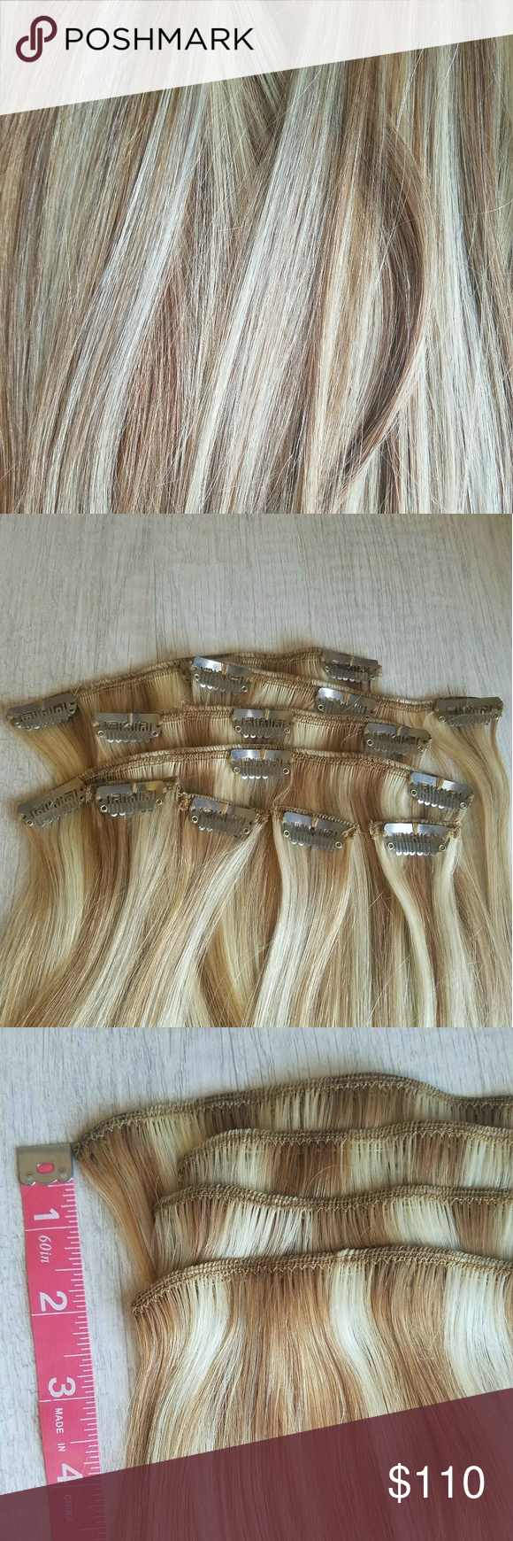 Euronext 16 Inch Clip In Human Hair Extensions Human Hair
