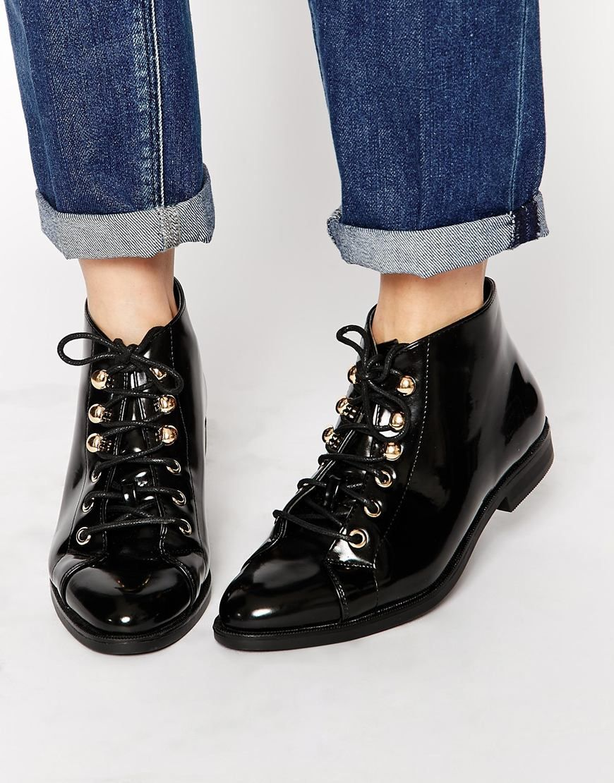 Image 1 of Truffle Collection Cece Lace Up Ankle Boots