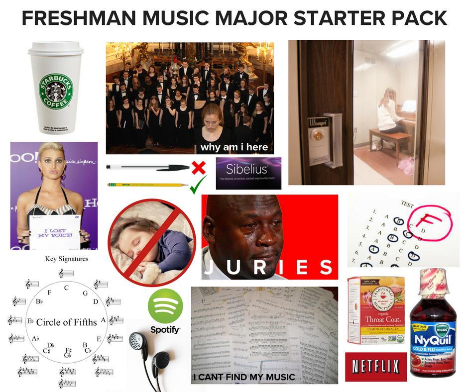 Freshman MusicMajor Starter Pack! musichumor Choir