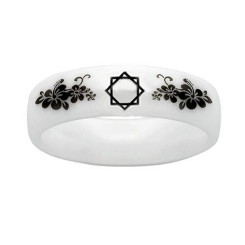 Women's White Purity Ring with flourish and Seal of