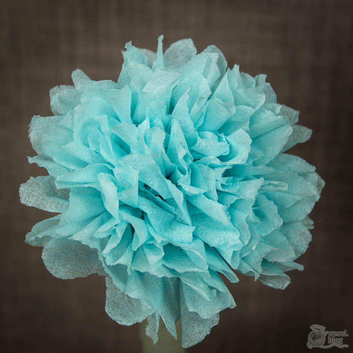DIY Papierblumen aus Servietten basteln – wesel.blog | DIY – Handlettering – Plotten