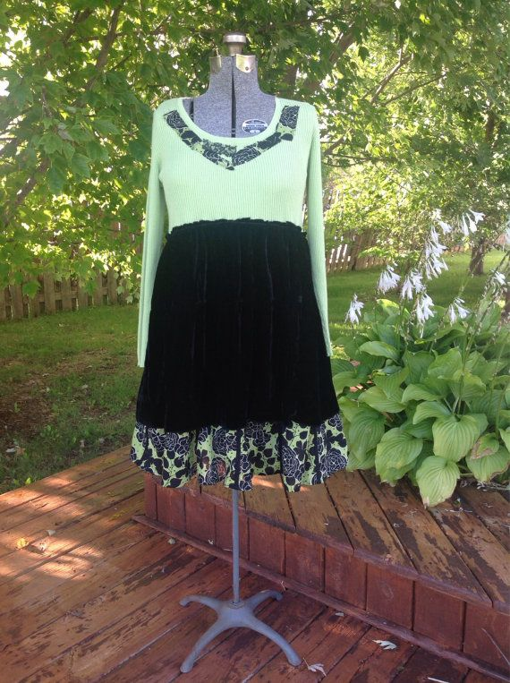 Hey, I found this really awesome Etsy listing at https://www.etsy.com/listing/203398382/upcycled-tunic-dress-babydoll-tunic