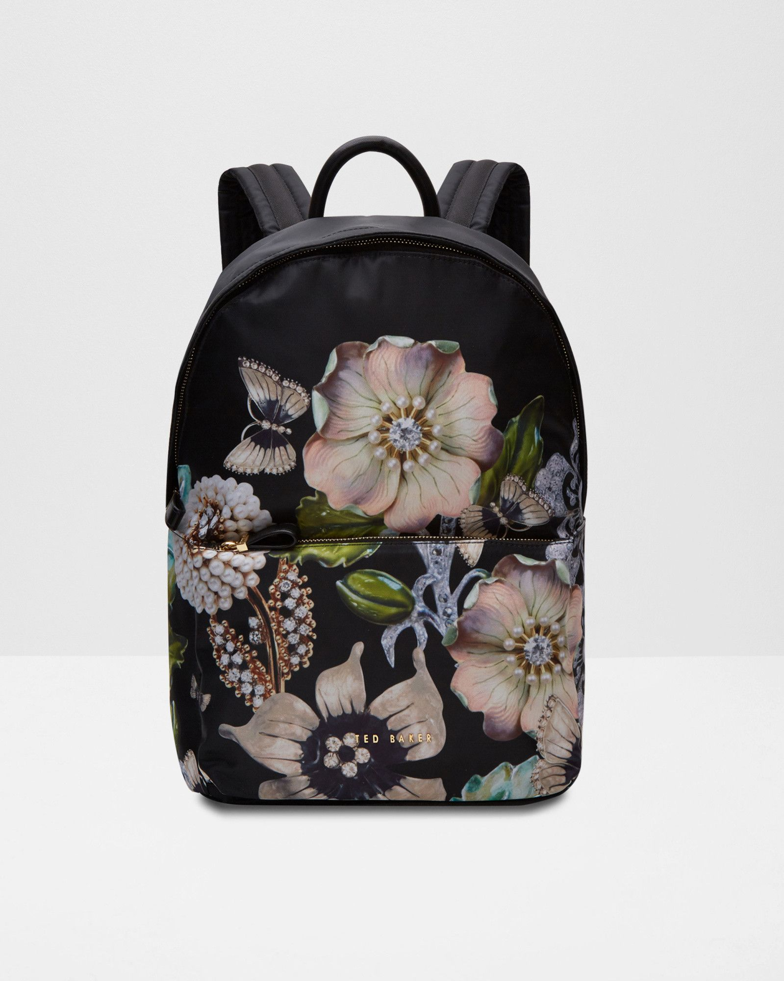 f29a68715b6 Gem Gardens backpack - Black   Bags   Ted Baker UK   DAPA - DESIGN ...