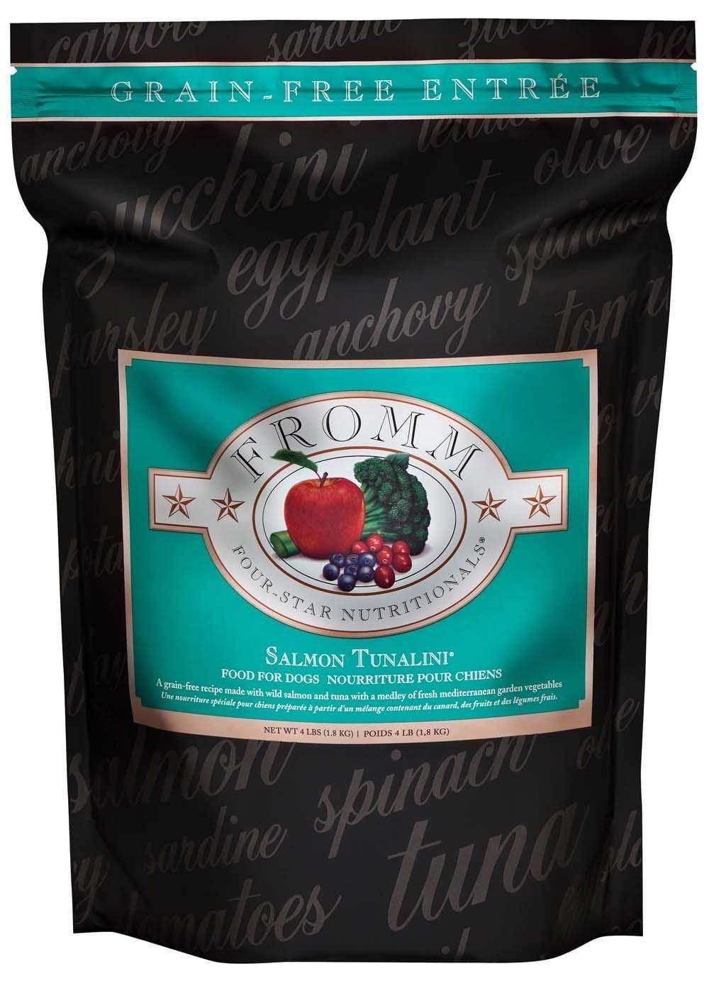 Fromm four star grain free salmon tunalini dry dog food in