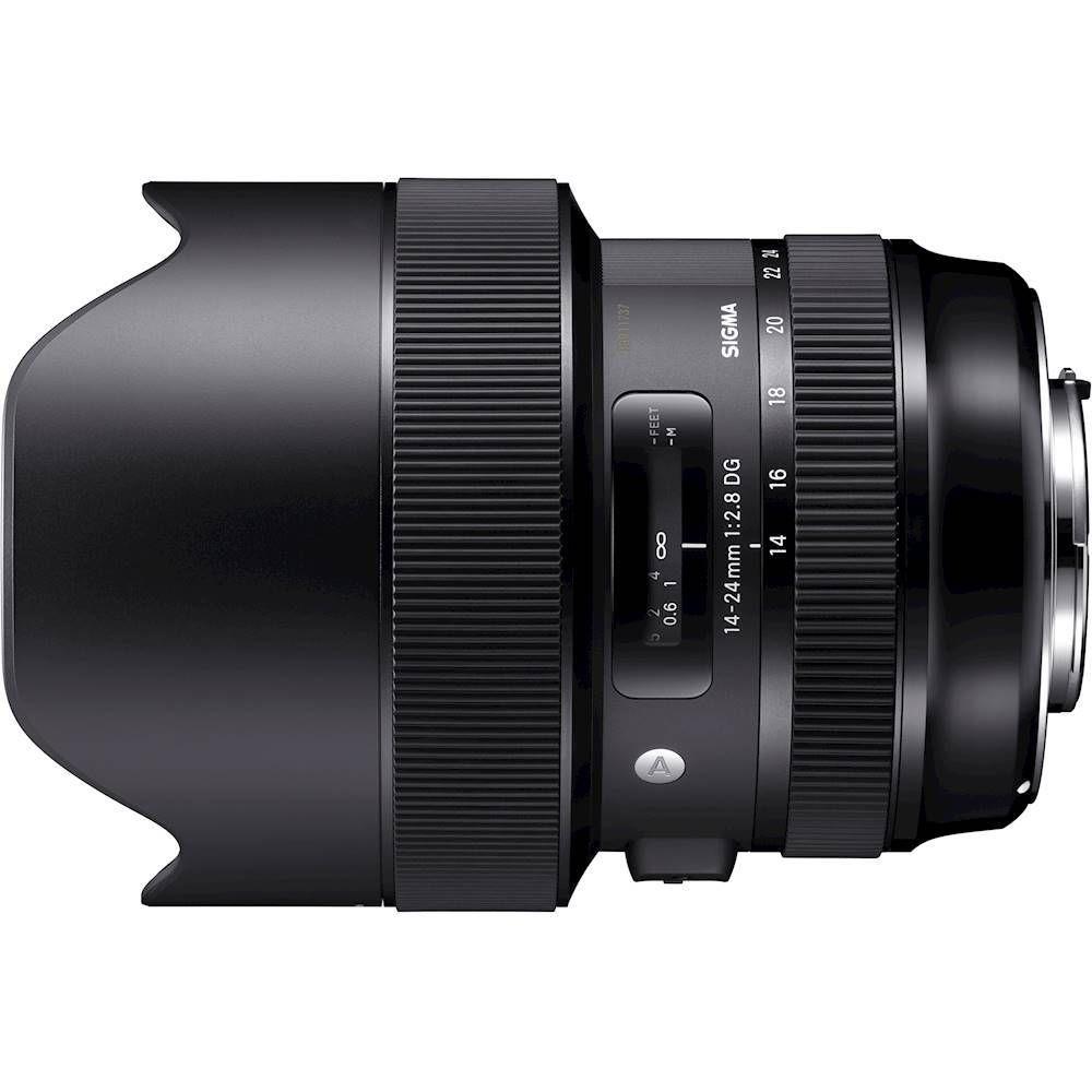 Sigma Art 14 24mm F 2 8 Dg Hsm Wide Angle Zoom Lens For Canon Ef Black 212954 Best Buy Art Lens Zoom Lens Sigma