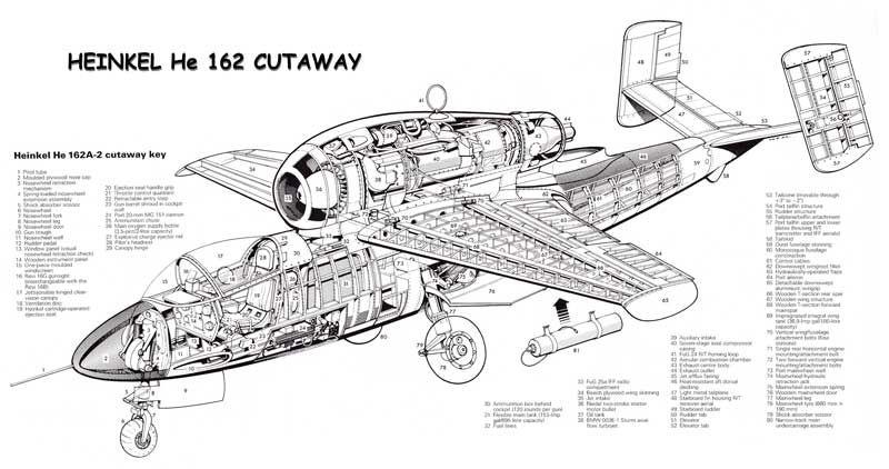 He 162 Cutaway Planes Pinterest Aircraft Ww2 Planes