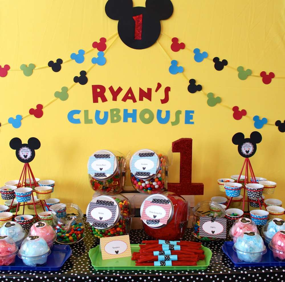 mickey mouse candy table catchmypartycom