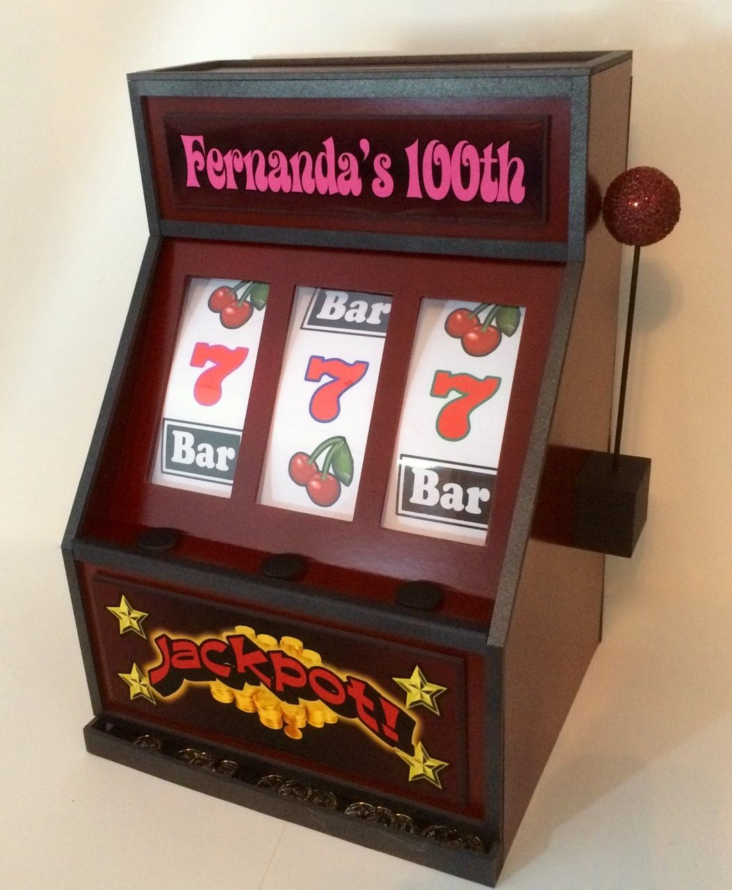 Heres a foamcore slot machine gift card box that was made for a heres a foamcore slot machine gift card box that was made for a 100th birthday party bookmarktalkfo Image collections