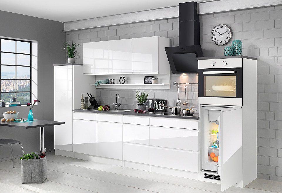 HELD MÖBEL Küchenzeile mit E-Geräten »Virginia, Breite 290 cm - küchenblock 270 cm