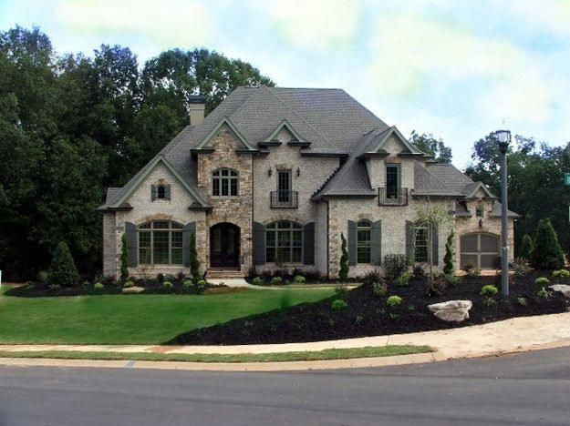 Gorgeous french chateau style in gated community houses for French country beach house