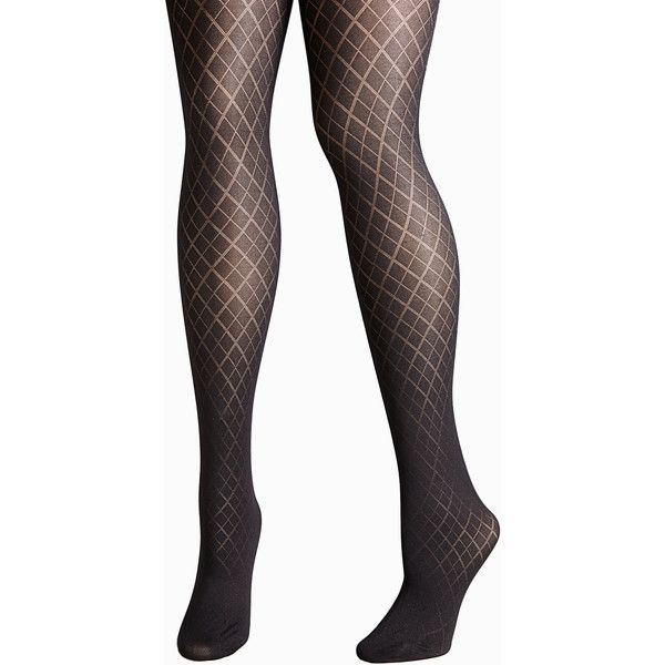 3e416159872 Avenue Plus Size Diamond Tights (25 CAD) ❤ liked on Polyvore featuring  intimates