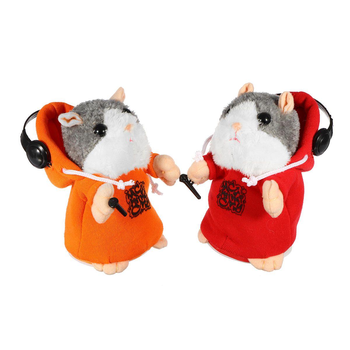 Cute Speak Talking Plush Hamster Mimic Repeat Recording Electric