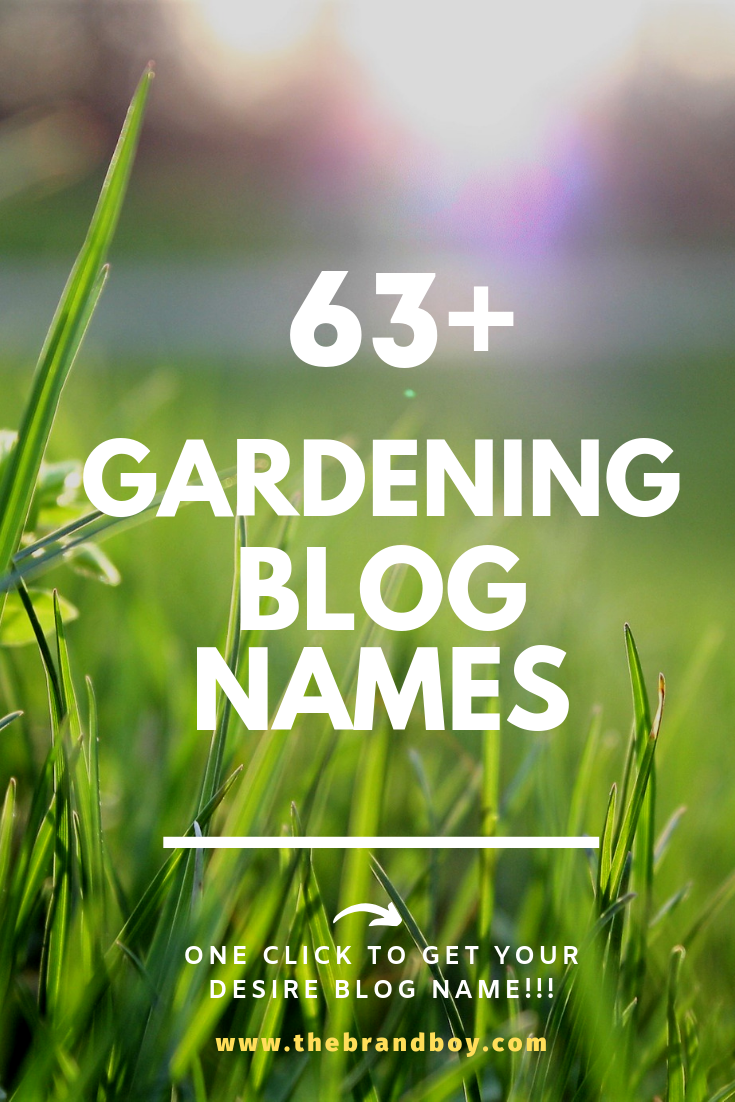 63 Catchy And Awesome Gardening Blog Names With Images