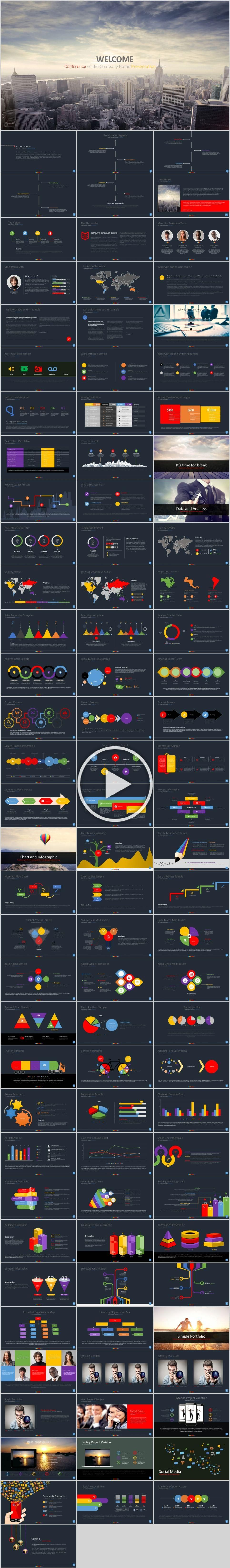 98 company report infographic PowerPoint template 98 company report infographic PowerPoint template  The highest quality PowerPoint Templates and Keynote Templates downlo...