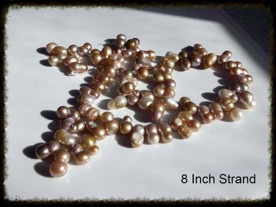 Peanut Pearls Peach Colored Beautiful by HolyGhostGifts on Etsy