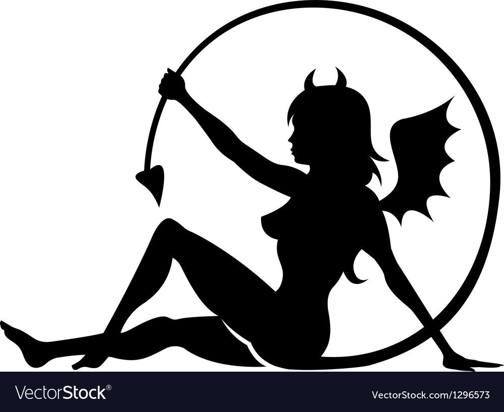 2815745709702 Devil girl. Download a Free Preview or High Quality Adobe Illustrator Ai,  EPS,