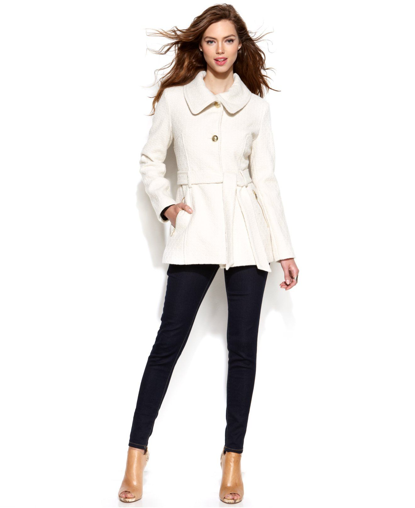 The jacket I pointed out to Ryan at Macys today :) Jessica Simpson Wool-Blend A-Line Jacket - Coats - Women - Macy's