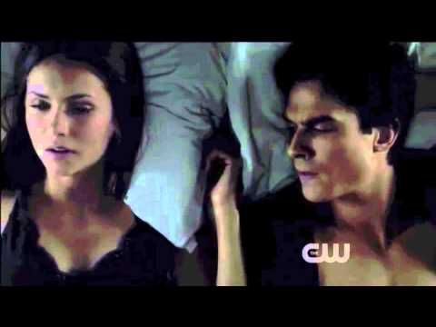 Damon and Elena Motel Scene from the Vampire Diaries - Season 3 Episode 19 - YouTube This is amazing delena scene gets my heart racing every time!!!!!