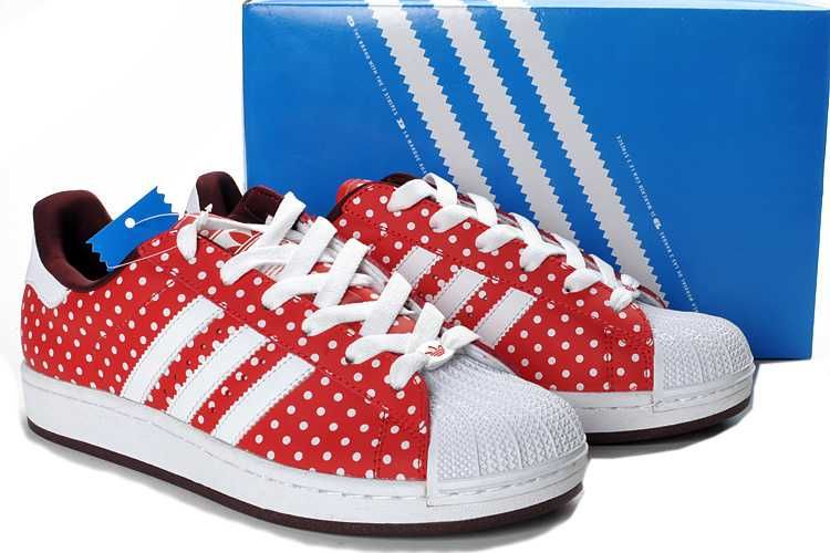 adidas superstar dames rood