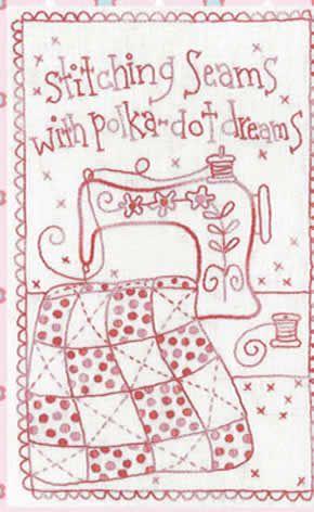 Stitching Seams Stitchery- by Rosalie Quinlan -Stitchery Pattern