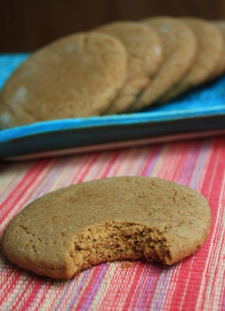 The texture of these fat molasses cookies is lovely and light, almost a little biscuit like. And they're not too sweet