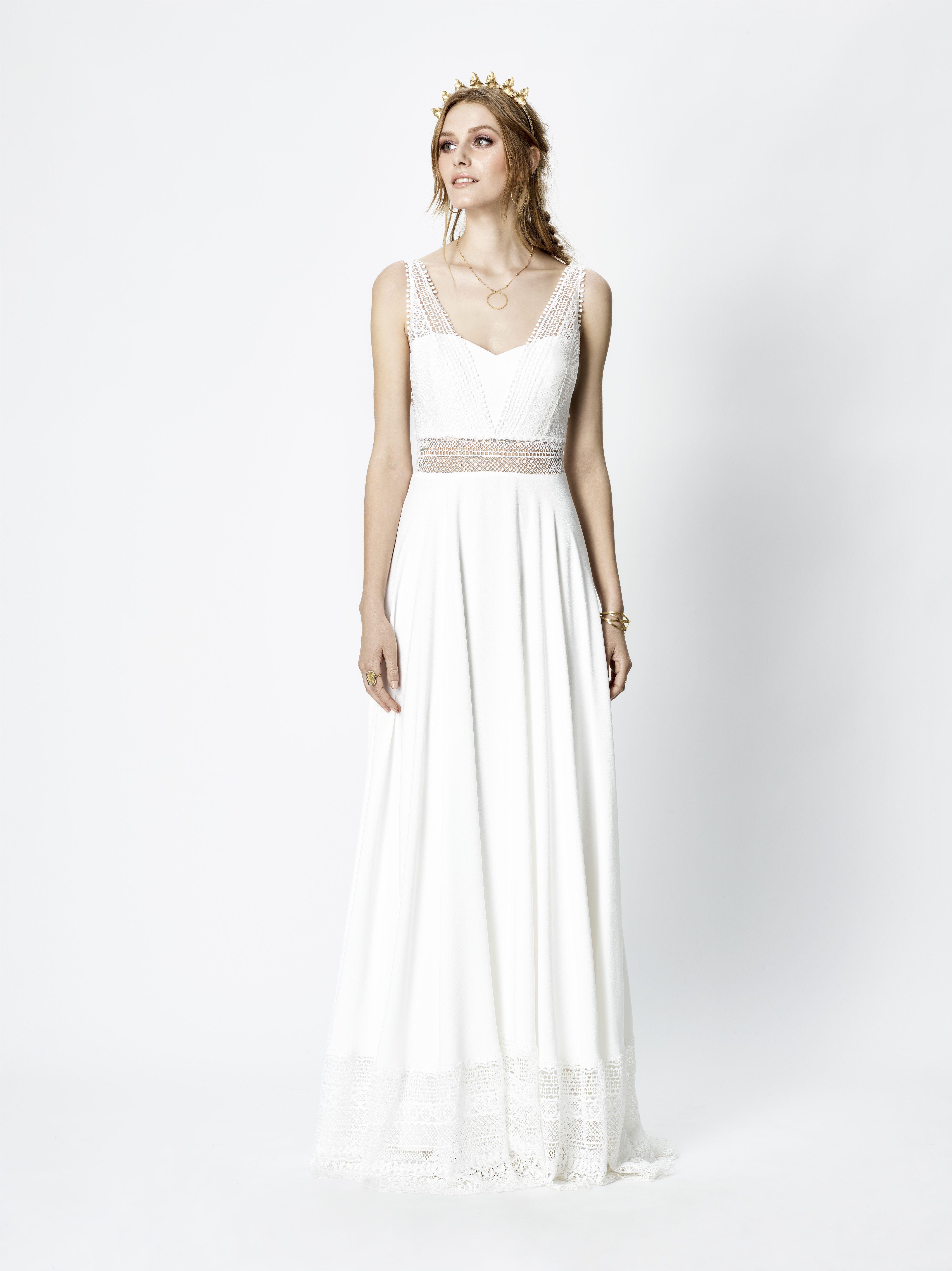 Leichtes Brautkleid im Boho-Stil aus der 2018er Kollektion von Rembo ...