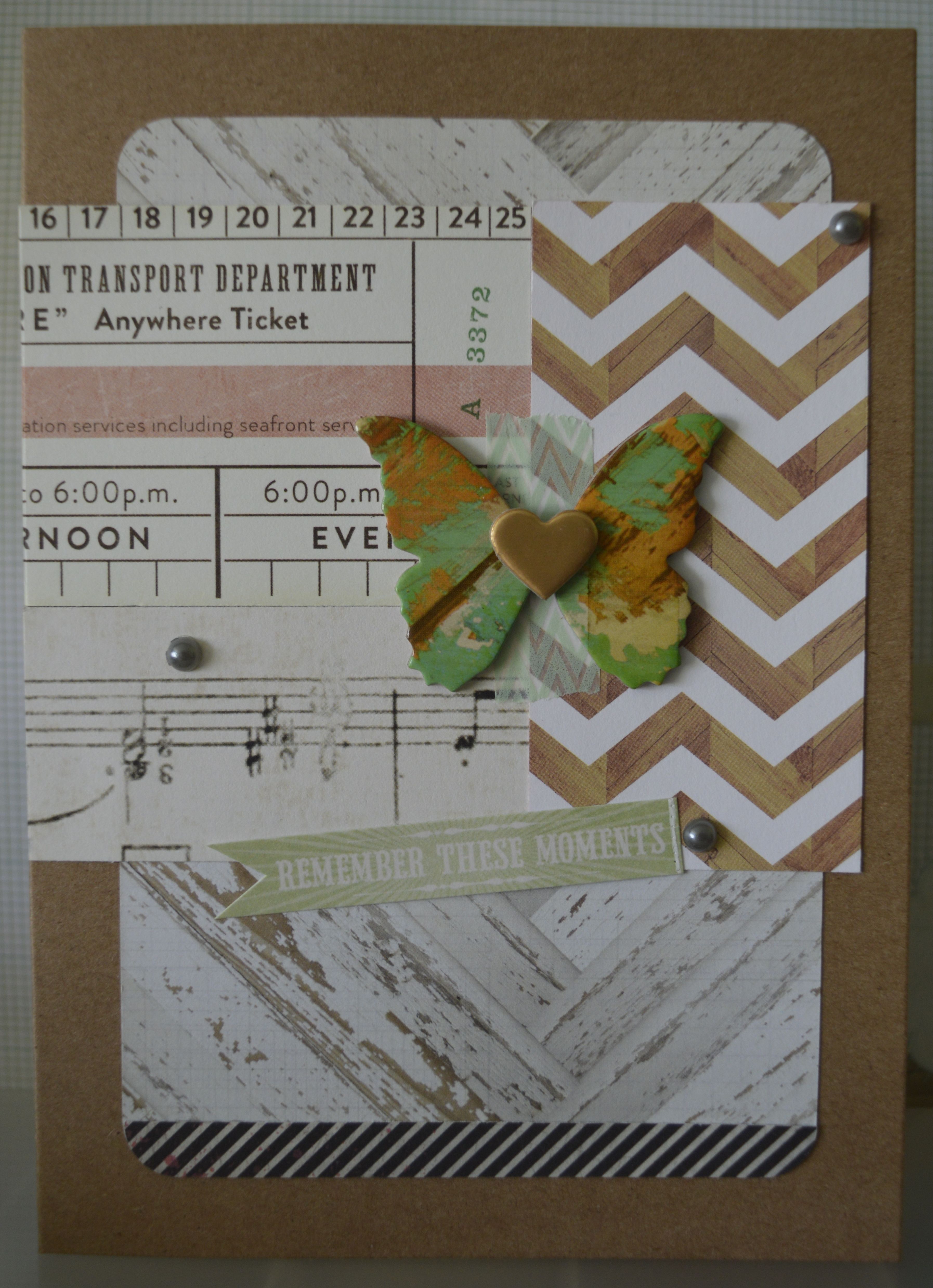 Crate Paper. Cards made with Project Life