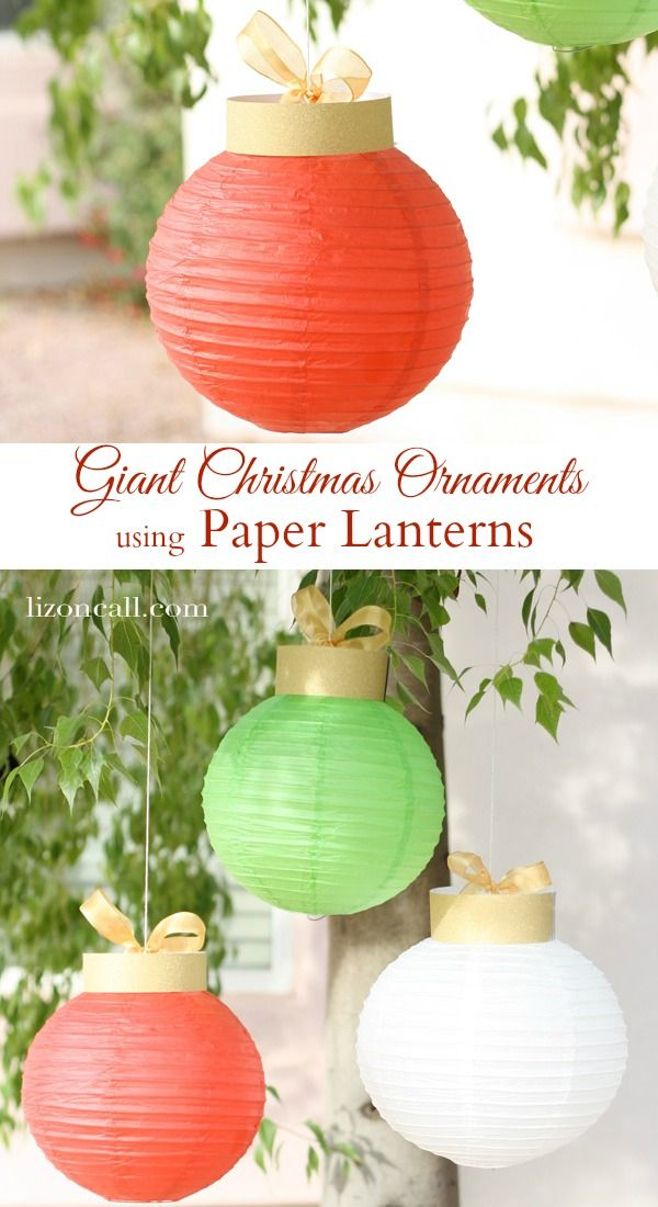 Paper Lantern Christmas Ornaments The Group Board On Pinterest