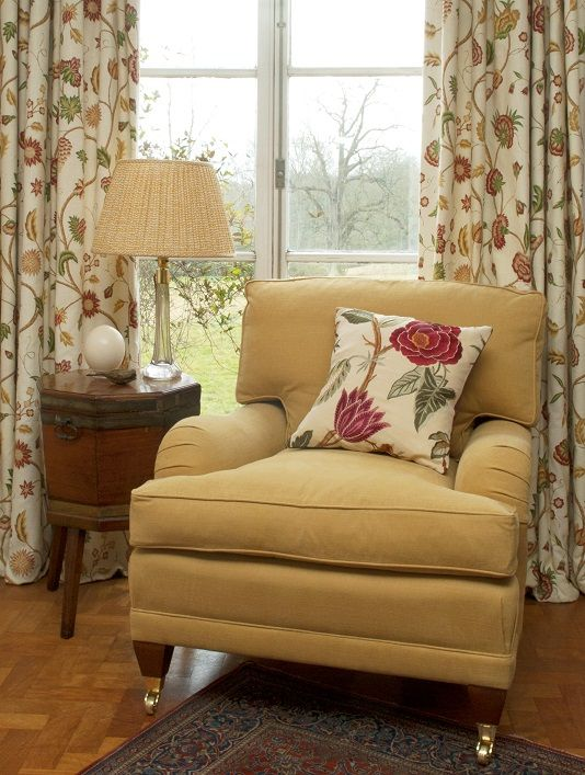 Maplehurst Armchair In Paris Texas Linen, Handmade In The UK, Can Be Made  Of Order In Any Of Our Fabrics