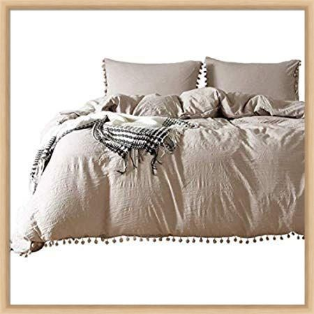 Photo of Amazon.com: Famitile Queen Duvet Cover Set Ultra Soft Microfiber Bedding 3 Piece…